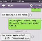 Looks like Ma and Pa are officially coming to Italy! I cannot wait!
