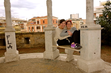 Great company, deep conversation, and a beautiful view..couldn't have asked for a better day in the Rome.