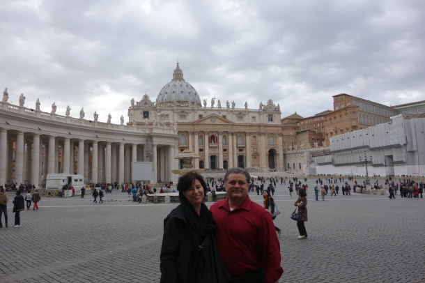 Parents in St. Peter's Square.