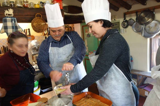 Cooking class in Chianti, Tuscany.