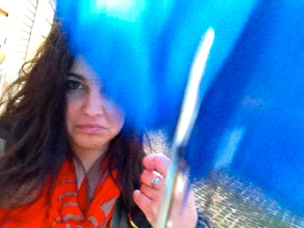Finally caved and bought an umbrella from the umbrella men...it broke in 20 minutes.
