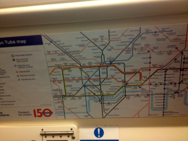 Won't exactly be missing tube life in London.